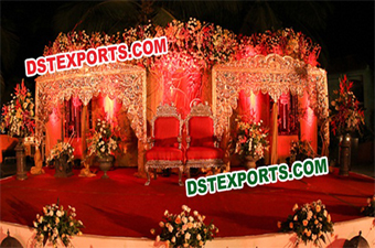 Rajasthani Wedding Backdrop Fiber Panel