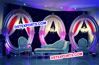 Latest Wedding Stage Oval  Panels