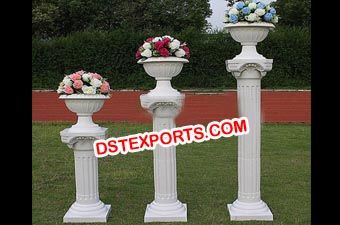 Wedding Roman Pillars With Flower Pot