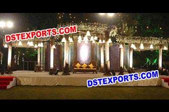 Wedding Crystal Mandap Decoration
