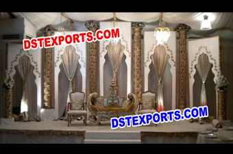 Wonderful Asian Wedding Fiber Pillars Stage