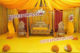 Dream Wedding Mehndi Stage Swing Set