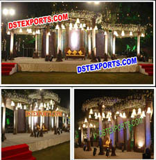 STYLISH WEDDING LIGHTED CRYSTAL MANDAP SET