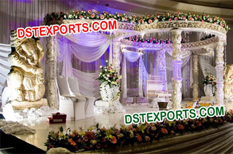 Wedding Traditional Crystal Mandap Set