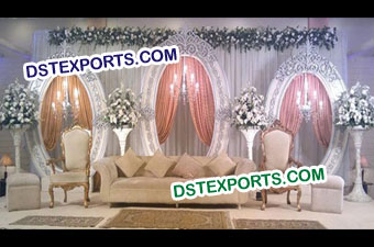 Wedding Stage with Oval Backdrop panels