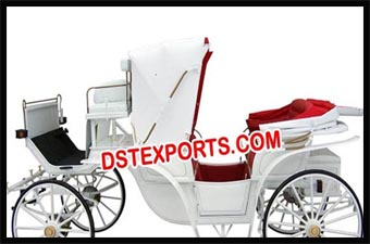 Beautiful Wedding White Horse Carriage