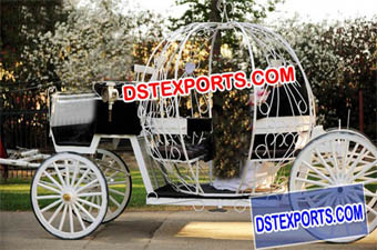 English Wedding Cinderella Horse Carriage