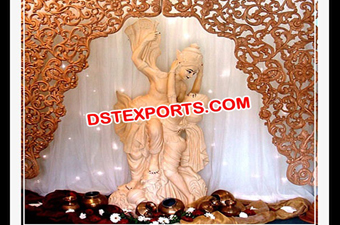 Indian Wedding Decor Radha Krishan Statue
