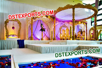 Hindu Wedding Wooden Mandap