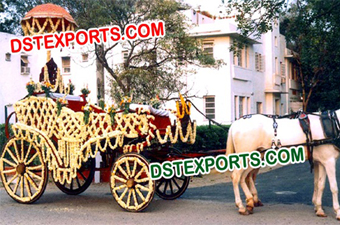 Indian Wedding Decor Horse Buggy