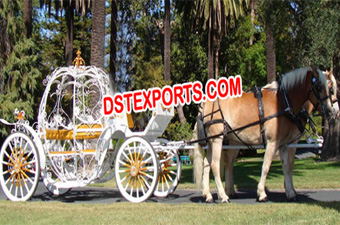 Cinderella Heart Horse Drawn Carriage