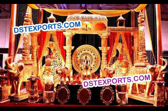Indian Wedding Traditional Stage Set