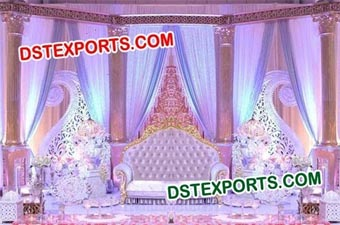 Asian Wedding Sona Chandi Stage Setup