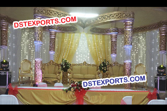 Wedding Golden Crystal Butterfly Mandap Set