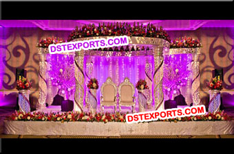 Wedding Colourful Crystal Mandap Set