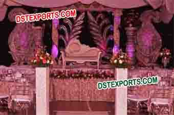 Wedding Stage With Paisley Decors