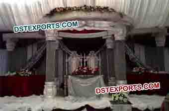 New Model Wedding Crystal Mandap Set