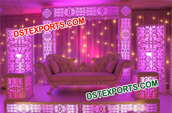 New Design Wedding Lighted Stage Set