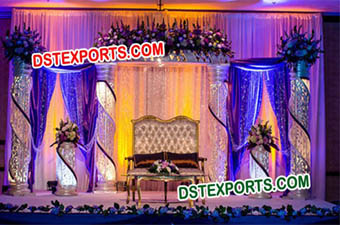 Elegent Wedding Decorated Crystal Stage