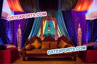Mughal Wedding Jhrokha Stage Decoration