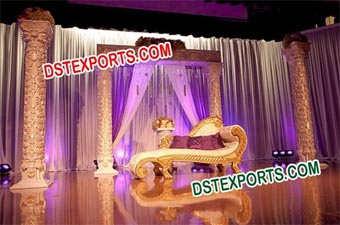 Beautiful Wedding Golden Fiber Stage
