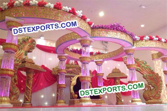 Royal Wedding Crystal Mandap Set