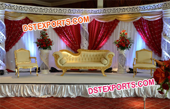 Indian Wedding Stages Set
