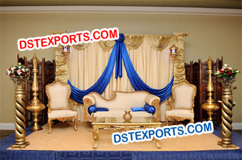Pakistani Wedding Royal Stage Set