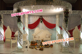 Hindu Wedding Crystal Mandap Set