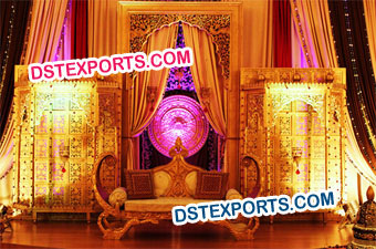 New Mughal Wedding  Stage Set