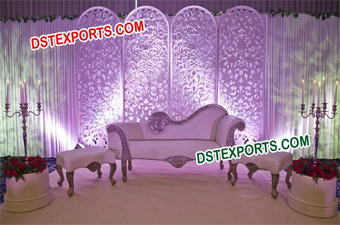 English Wedding Stage Backdrop Panels Set