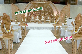 Wedding HandiCraft Wooden Mandap