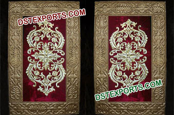 Indian Wedding Golden Embroidered Panels