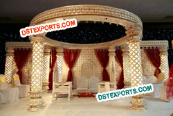Wedding Carved Lighted Mandap Set