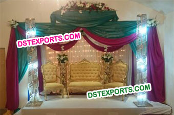 Indian Wedding Crystal Stage