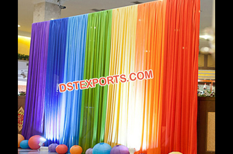 Wedding Stage Rainbow Backdrop Curtains