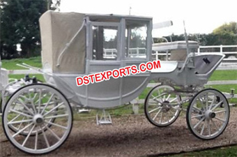 Elegent Wedding Horse Drawn Covered Carriage