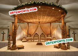 INDIAN SHADI WOODEN MANDAP