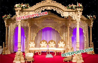 Wedding Wooden Temple Look Mandap