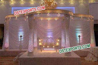 High Quality Crystal Mandap Set