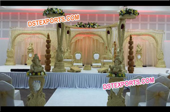 Maharaja Wedding Peacock Mandap Set