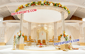 Latest Hindu Wedding Wooden Mandap Set