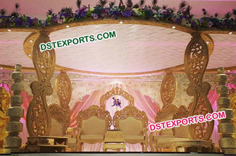 Indian Wedding Antique Wooden Carrys Mandap