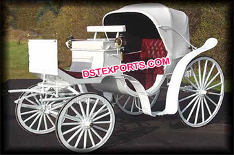 Latest Victoria White Horse Drawn Carriage