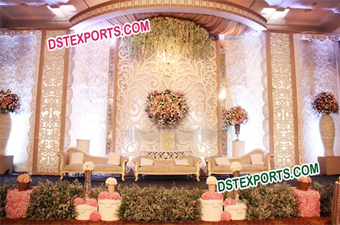 Wedding Stage Fiber Carved Backgrounds