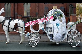 Wedding Bridal Stylish Cinderella Horse Carriage