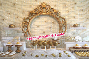 Indian Wedding Backdrop Frame Oval Panel