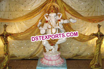 Decorated  Lord  Ganesha  Fiber Statue