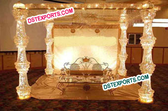 Wedding Metal Crystal Mandap