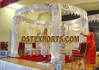 Indian Wedding Silver Crystal Mandap
